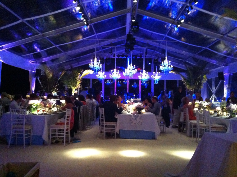 Clear Span Tenting St Barths. Luxury Villa Wedding