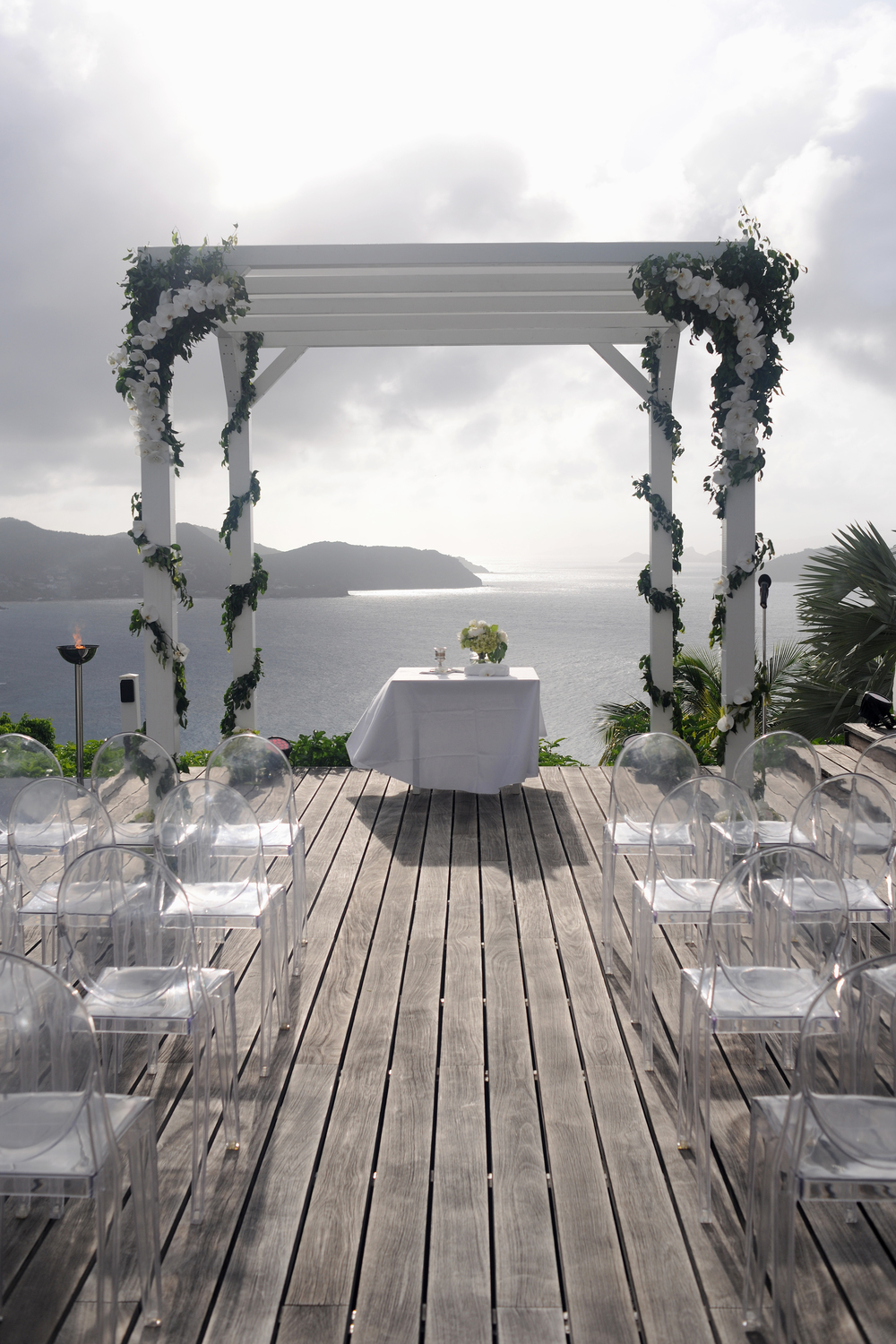 Private Villa Jewish Wedding Chouppa St Barths