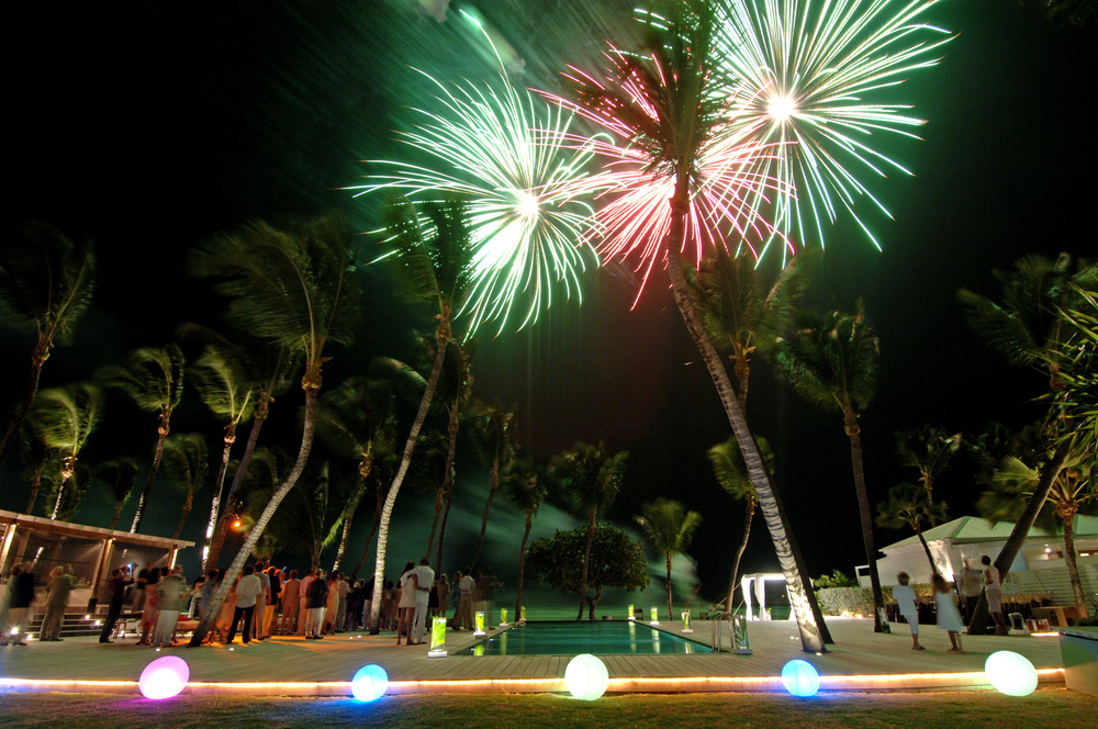 Le Sereno St Barths Wedding Fireworks