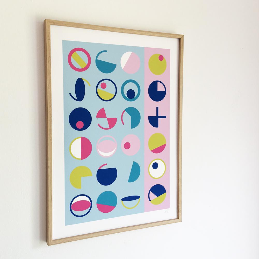 Geometric Circles Giclee Pigment Print