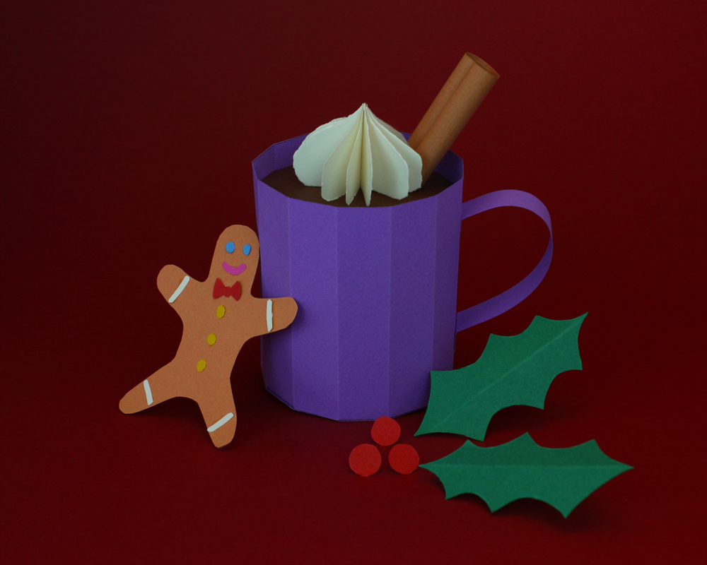 Eleanor Stewart_Paper Model_hot festive drink_cinnamon stick_gingerbread_holly_paper craft_hot-chocolate.jpg