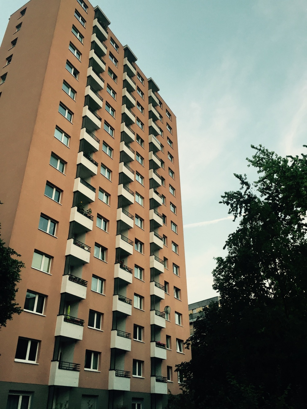 """Plattenbau""-style housing reflects a stifling one-size-fits-all approach to human needs. This photo was taken in the Berlin suburb of  Kreuzberg."
