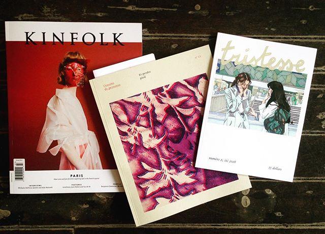 On a maintenant ces trois revues à la boutique : Kinfolk, Cousins de personne et Tristesse. À découvrir!