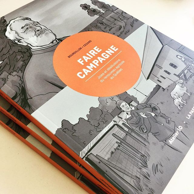 Il est arrivé de l'imprimeur, «Faire campagne», notre premier bédéreportage long format, en collaboration avec @editionspasteque.
