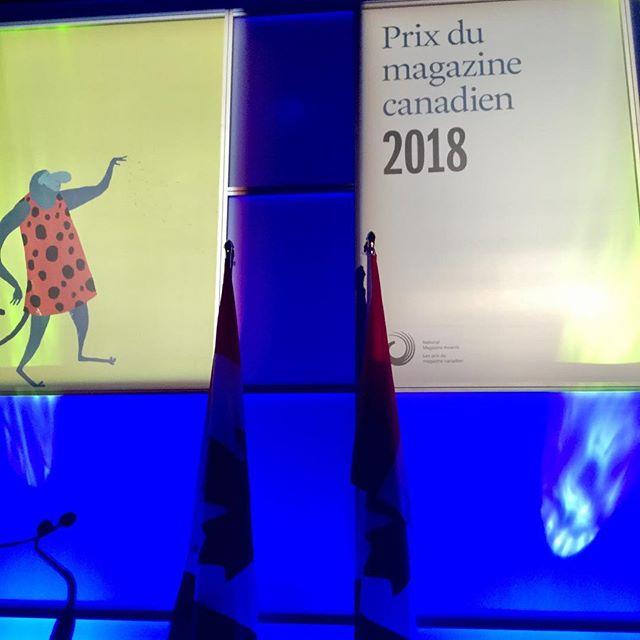 À Toronto pour le gala des Prix du magazine canadien. Nouveau Projet en nomination pour trois prix, dont Magazine de l'année. #pmc18