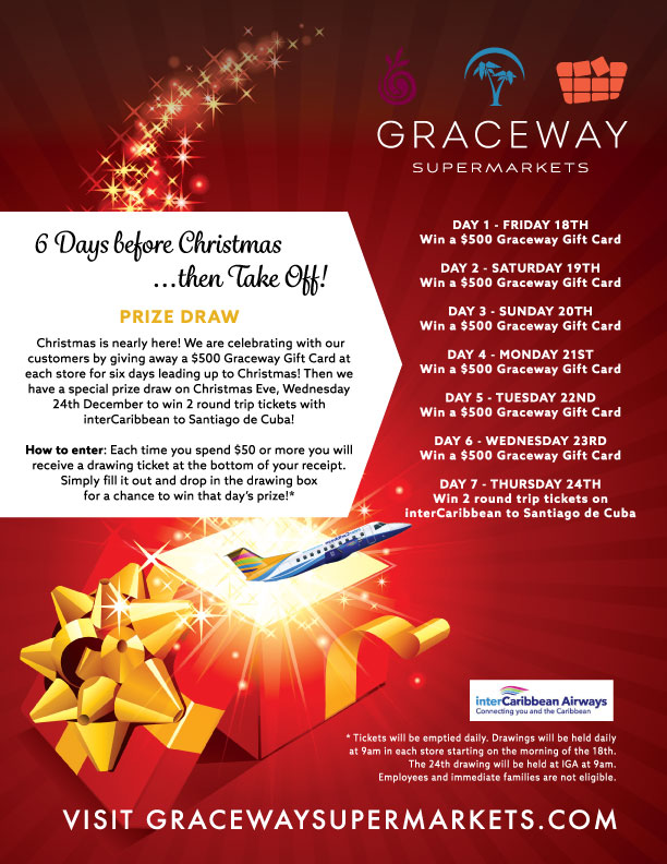 6 days before christmasthen take off prize draw