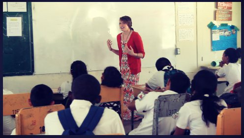 Aly Aleigha teaching Theology of the Body from her Testimony in Cayo, Belize