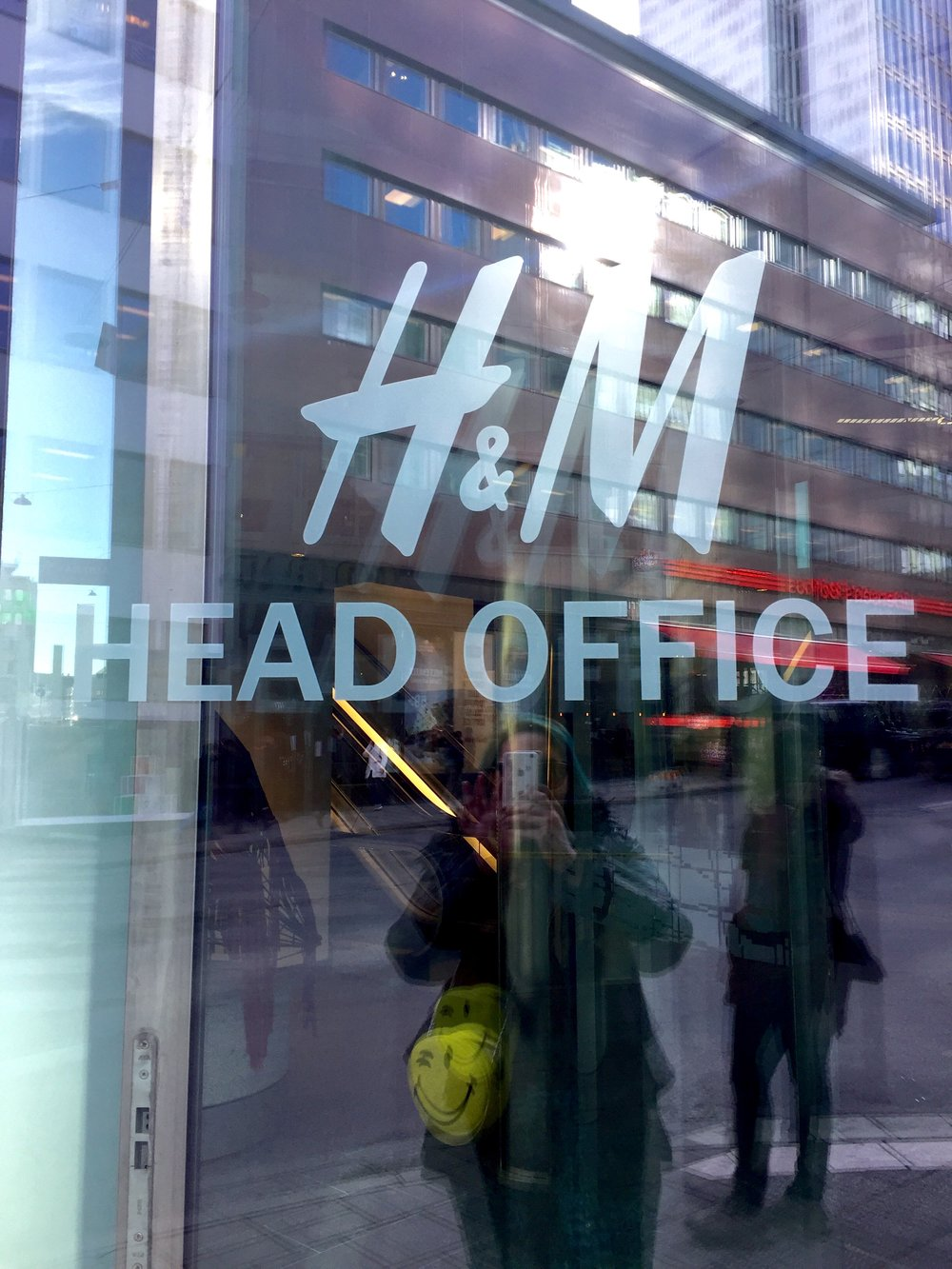 Sooooo excited to enter H+M head office in Stockholm