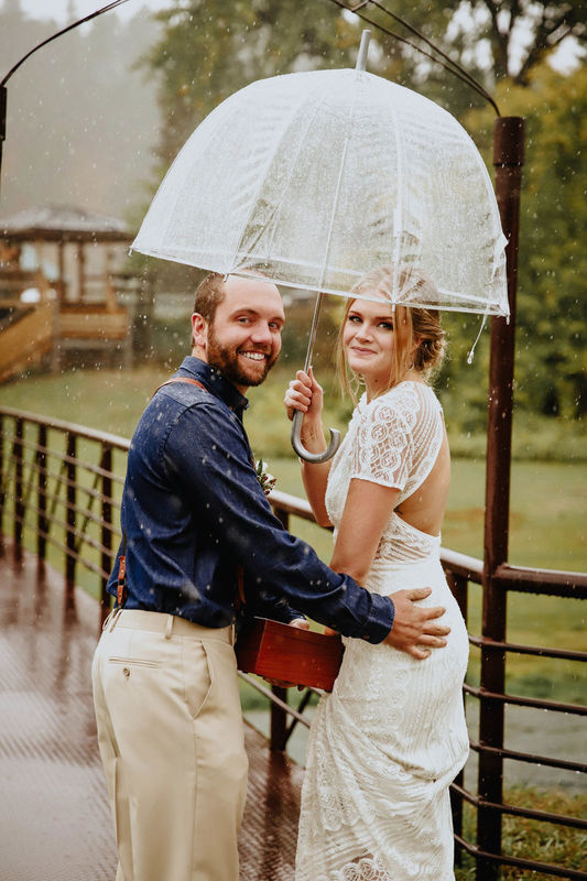 My fiance and I moved up to Deadwood in September 2016 and when we got engaged a few months later we decided that we wanted to get married in the Black Hills. We heard about Besler's from some friends in Wyoming and after taking a tour at the Ranch and one other venue we booked Besler's right away. There was no question in our mind that the ranch was the perfect venue for us. Ali was incredibly accommodating and professional from the time we contacted her and throughout the entire planning process. She answered all of my questions and since we were new to the area we booked our DJ, caterer and hair vendors based on her recommendation alone (and they were all amazing). Besler's was an ideal venue for our wedding especially considering the weather… it rained ALL DAY LONG. Although we originally planned to have the ceremony outside it was a simple transition to move everything into the barn. We even had our happy hour (complete with yard games) inside. It was such a relief to have a plan B considering the unpredictability of weather in the Black Hills. I also loved that we could have a separate place for the girls and guys to get ready AND provide a place to stay for our wedding party. I appreciated having everything in one place. Ali and all the Besler's were so kind and I am beyond grateful for all their help throughout the stressful time of planning a wedding (while also moving to a new home). I would book Besler's Cadillac Ranch again and again and I recommend them wholeheartedly to any bride and groom looking to get married in the Black Hills.