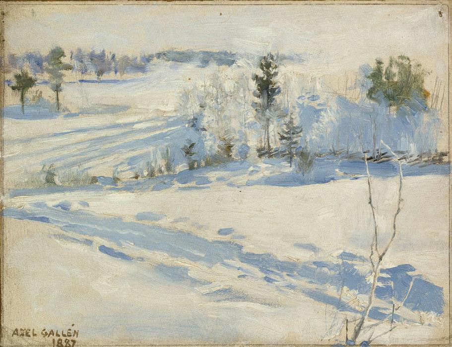 1887  Akseli Gallen-Kallela - Talvimaisema.