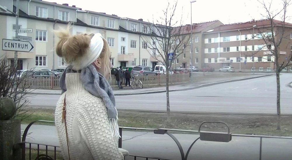 Genom Björknäs björkbladsgrind.