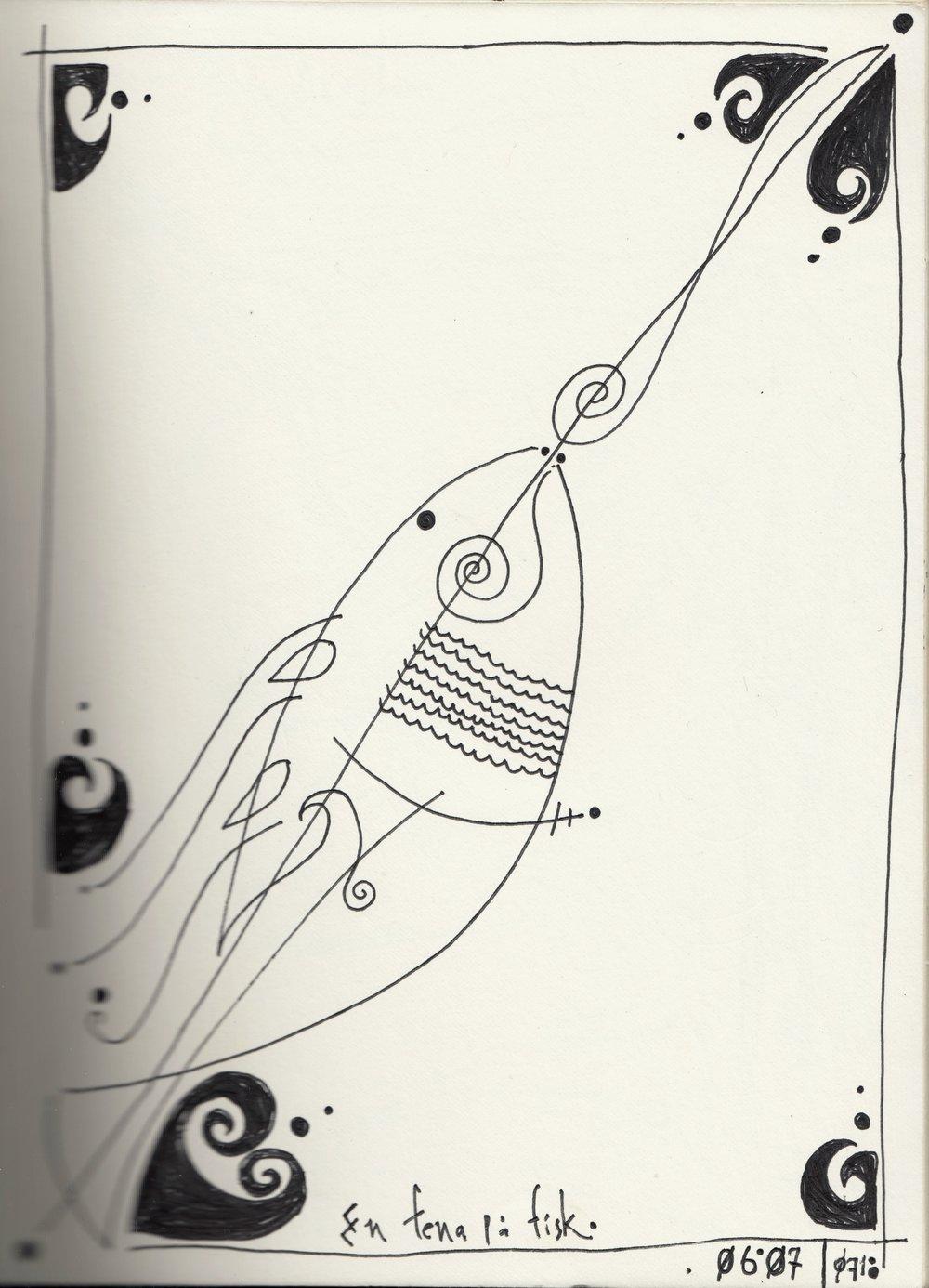 En fena på fisk.