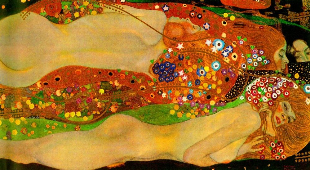 Gustav Klimt  /   Water serpents .