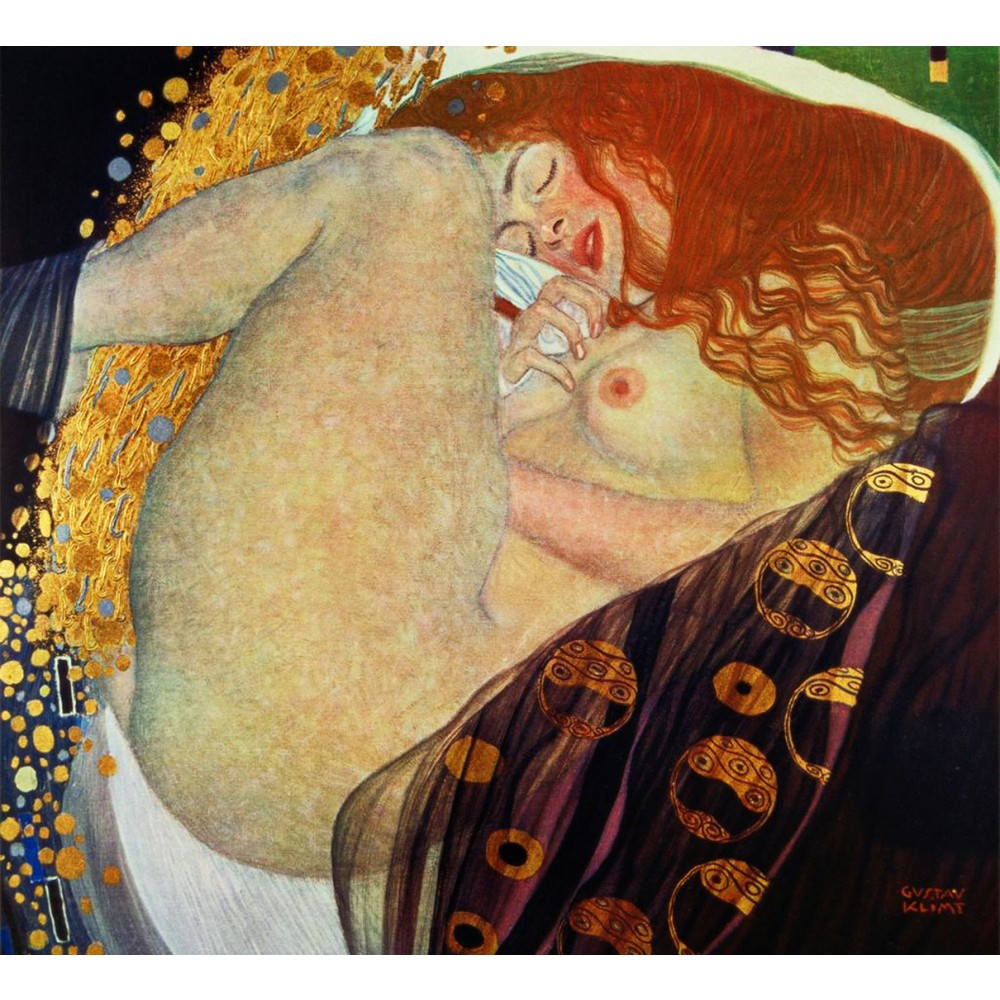 19o7/o9  Gustav Klimt  /   Danae  .