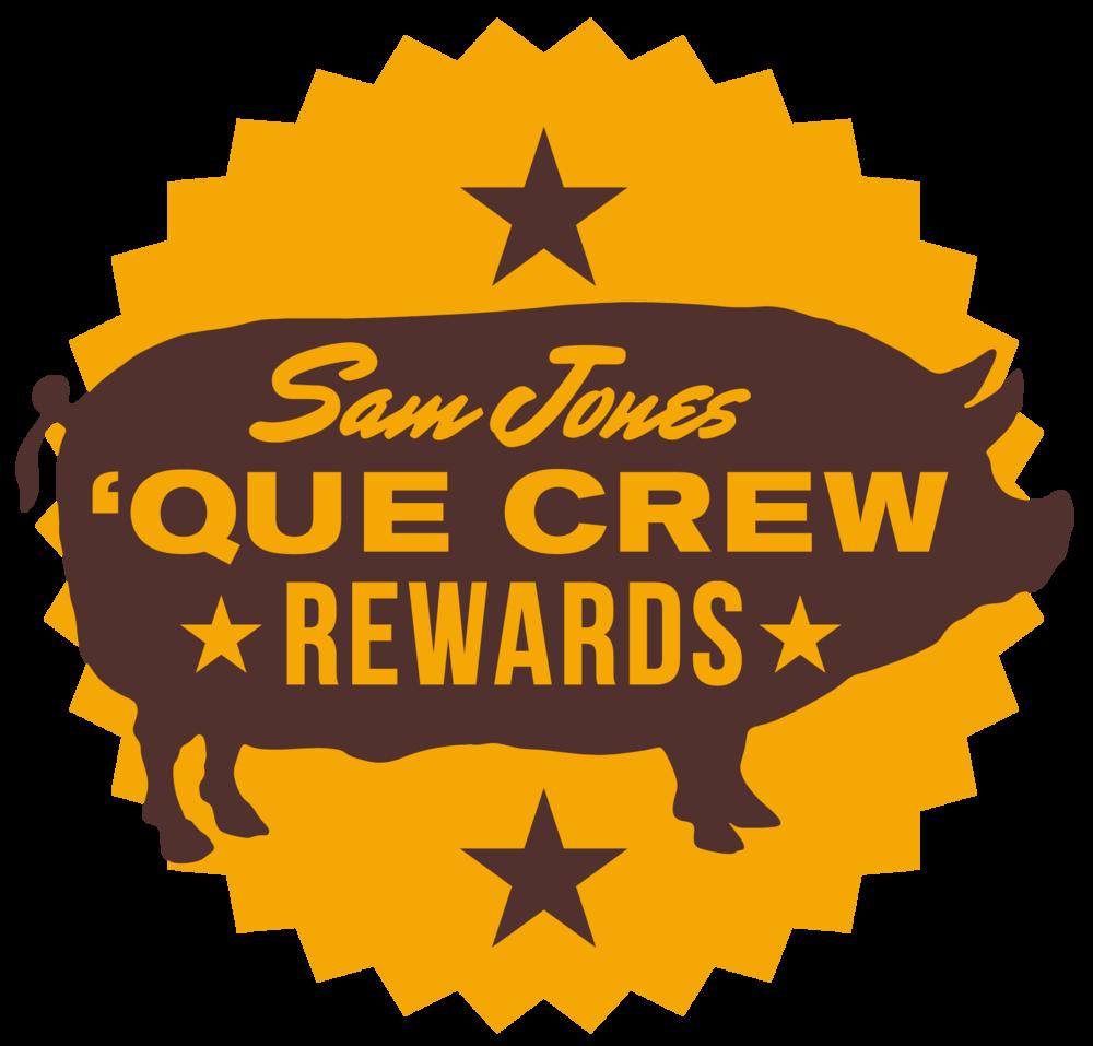 Sam Jones BBQ Que Crew Rewards