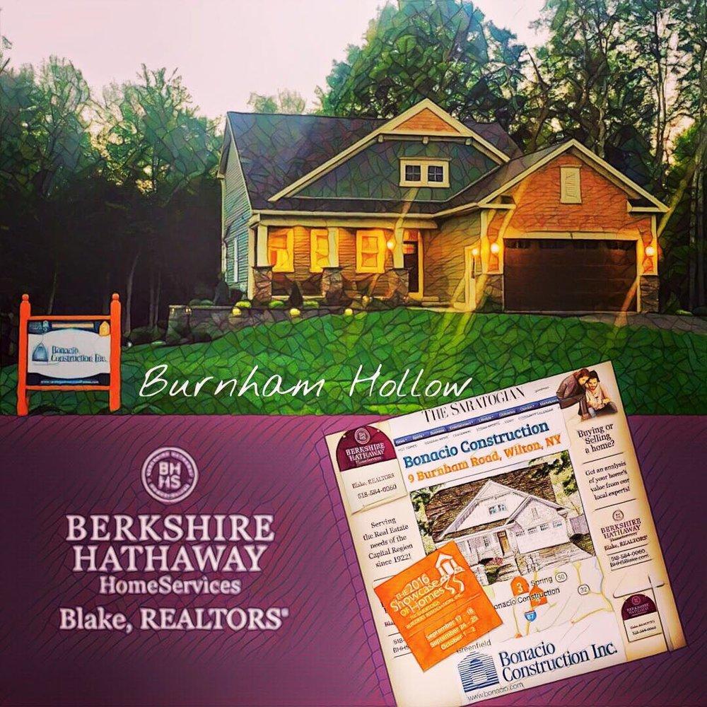 Our 2016 Bonacio built showcase home in the beautiful Burnham Hollow subdivision in Wilton, NY.