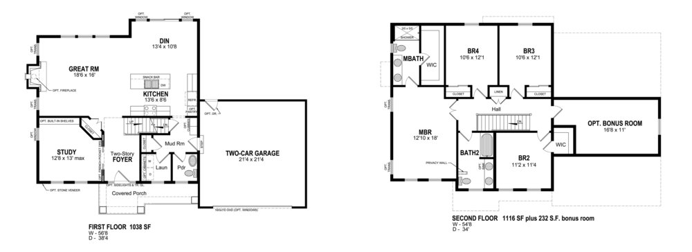 THE BARRINGTON  floor plans