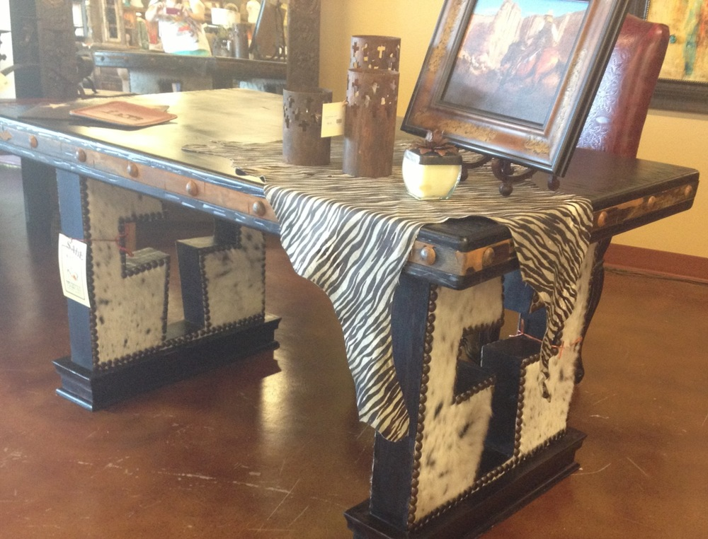 Cowhide Cross Desk.JPG