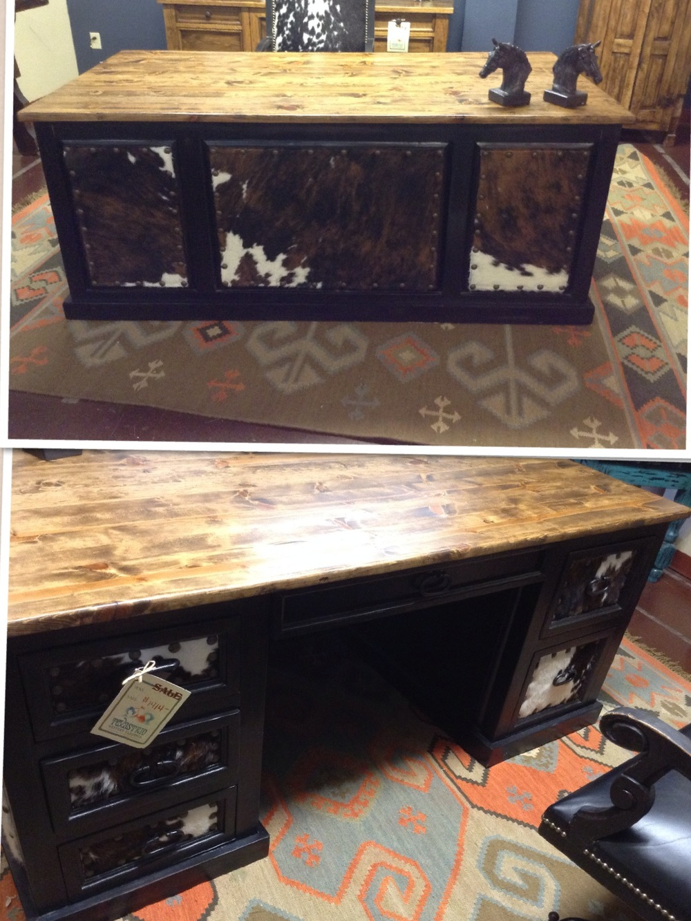 Cowhide Desk 1.JPG