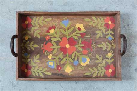 Wood & Metal Hand Painted Tray.jpg