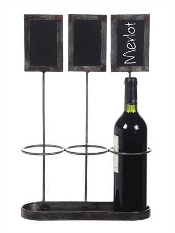 Metal Wine Bottle Holder w Chalkboards.jpg