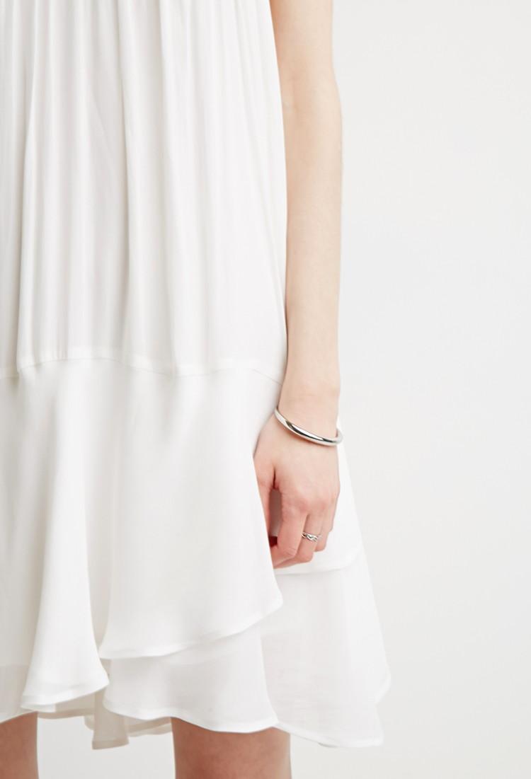 Chiffon Trapeze Dress, Size S