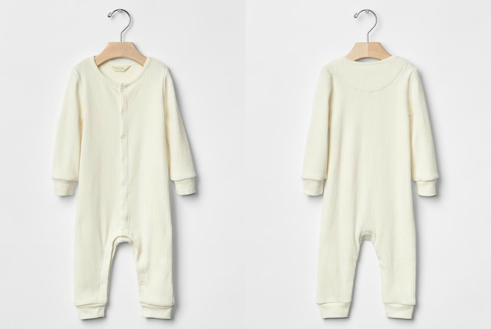 Organic ribbed one-piece | sizes 3-6m & 6-9m