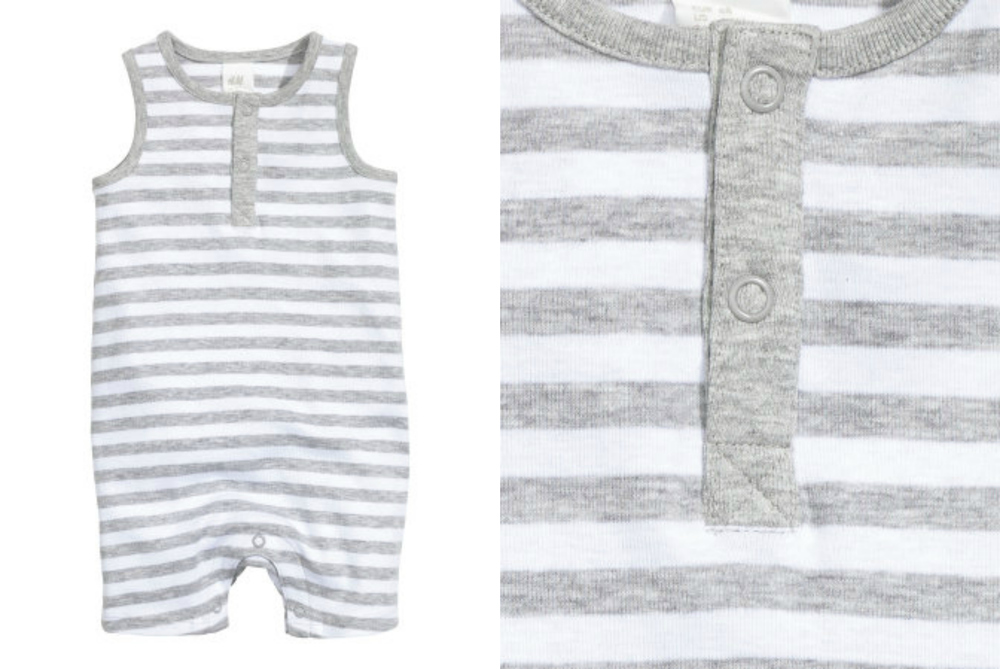 sleeveless striped jumpsuit | sizes 2-4m & 12-18m