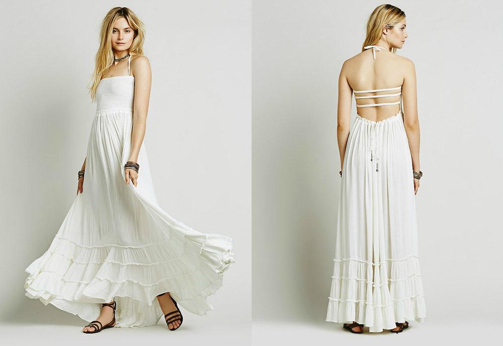 White Maxi Dress, M