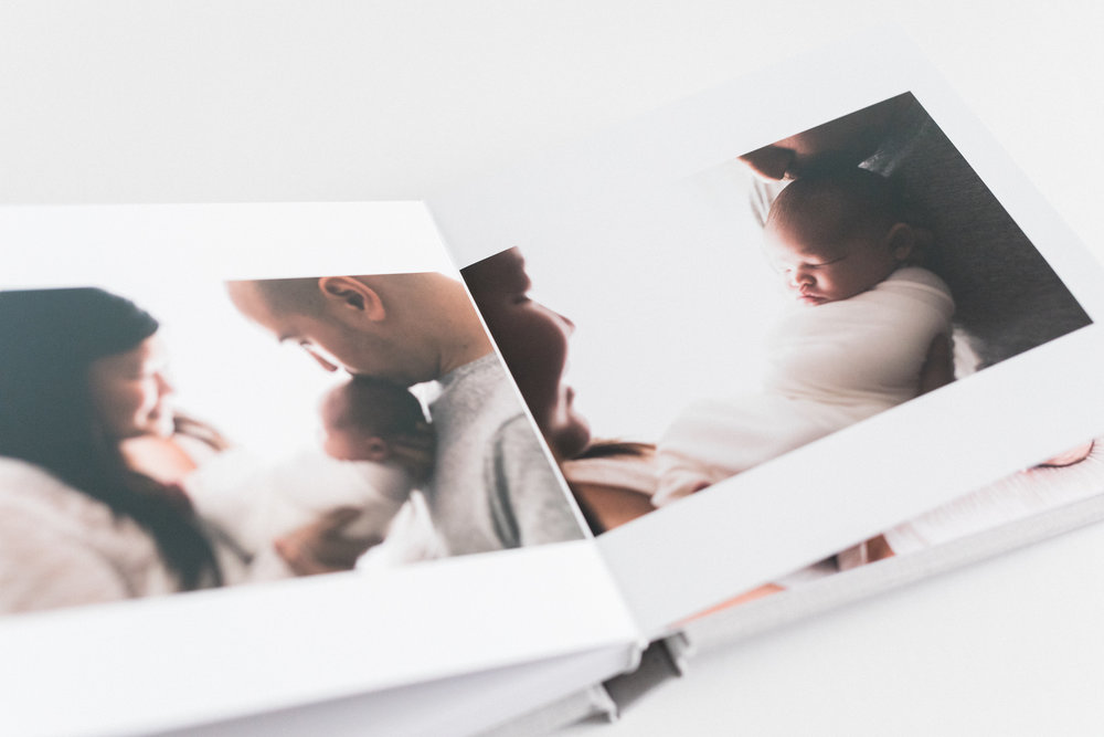 Washington DC and Northern VA Newborn Photographer | Heirloom Album Artwork