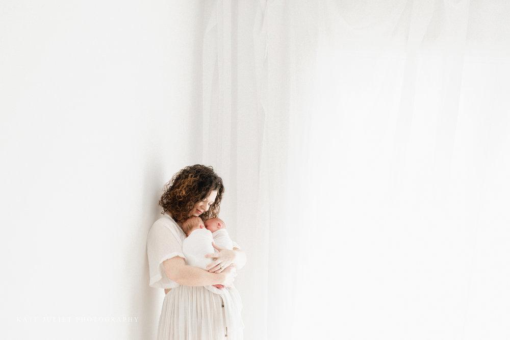 Northern VA Twin Babies Photographer | Kate Juliet Photography