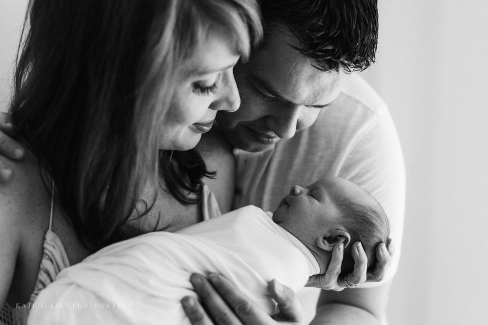 Baby Girl Newborn Photo Session | Kate Juliet Photography