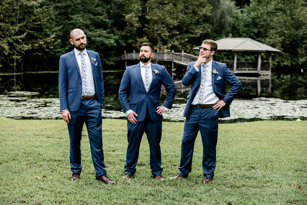 groomsmen strike a pose
