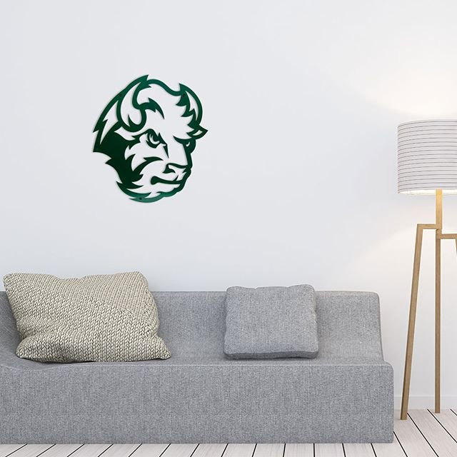 Our Bison metal wall decor turns any room into a Bison room. Available in green or black. #GoBison #HornsUp #NDSU #ndsubison
