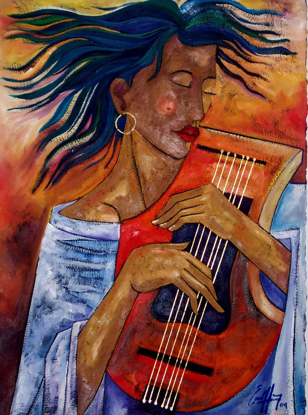Michal Escoffery, Wind Song # 2[oil on paper].JPG