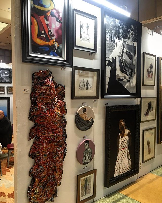 A collection of some of the amazing artwork featured at the #HarlemFineArtsShow throughout this weekend. Swing by tonight to see these amazing works!  #HFAS #HFASNYC #HFASNYC2017