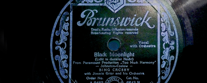 Bing first recorded Black Moonlight in 1933