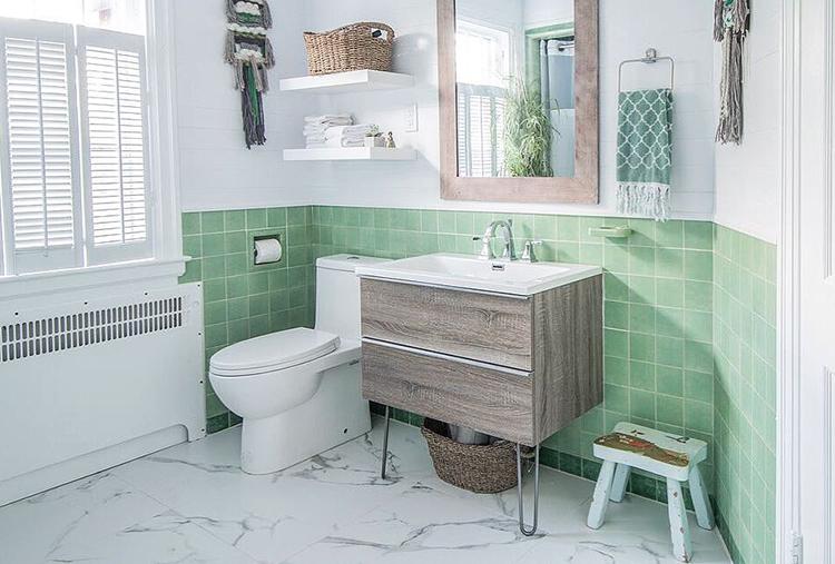 Dryden Two-Handle Widespread Bathroom Faucet  (Photo Credit:  @diymom.ca  )