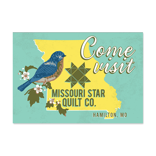 Postcard   A series of travel post cards designed for Missouri Star Quilt Co. to have in their main shop for customers traveling to this destination.