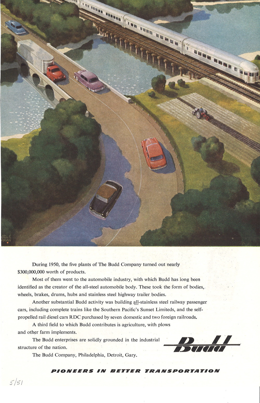 Budd - Train going over river with Cars .jpg