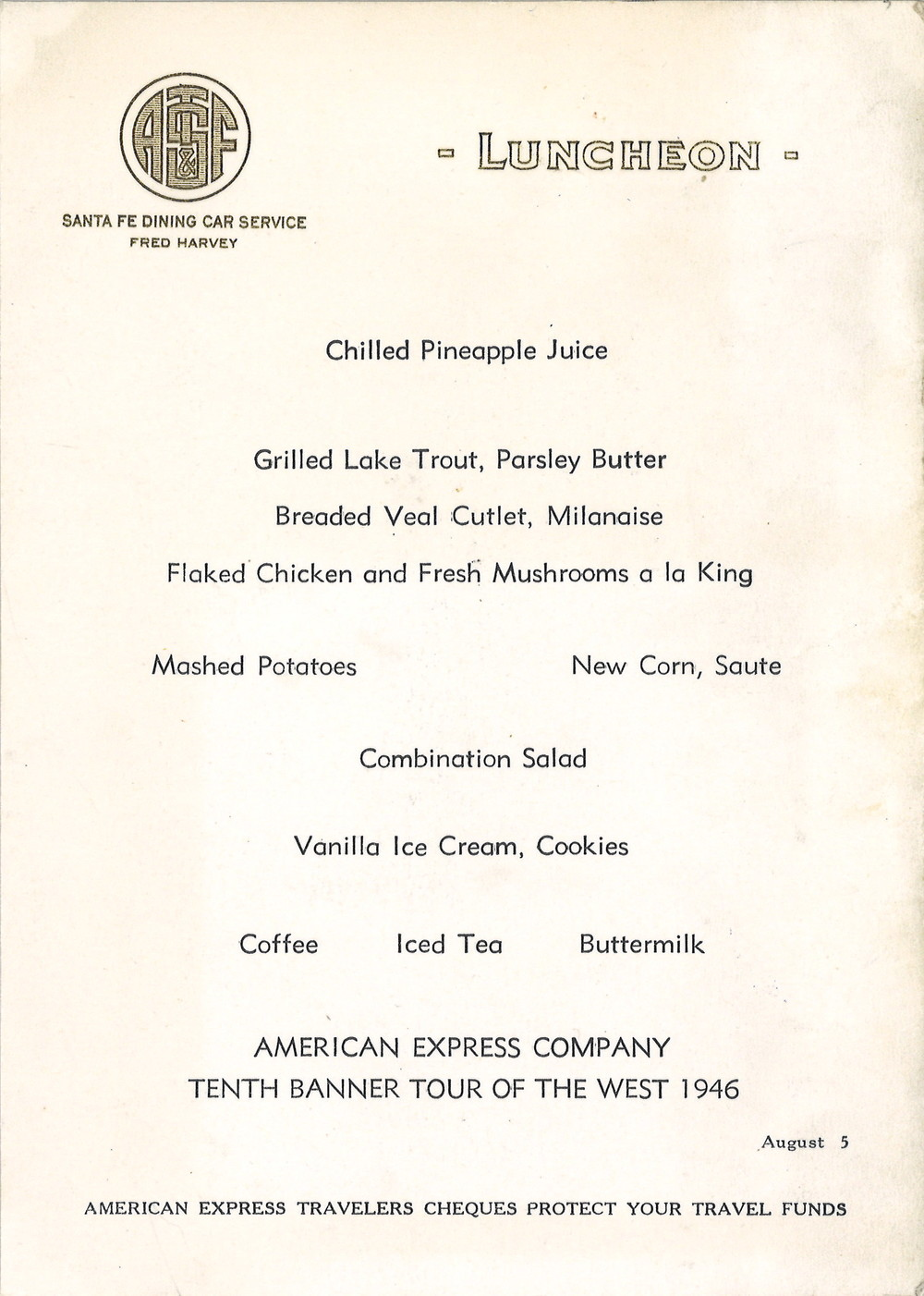 Santa Fe Aug. 5 1946 Lunch Menu.jpg