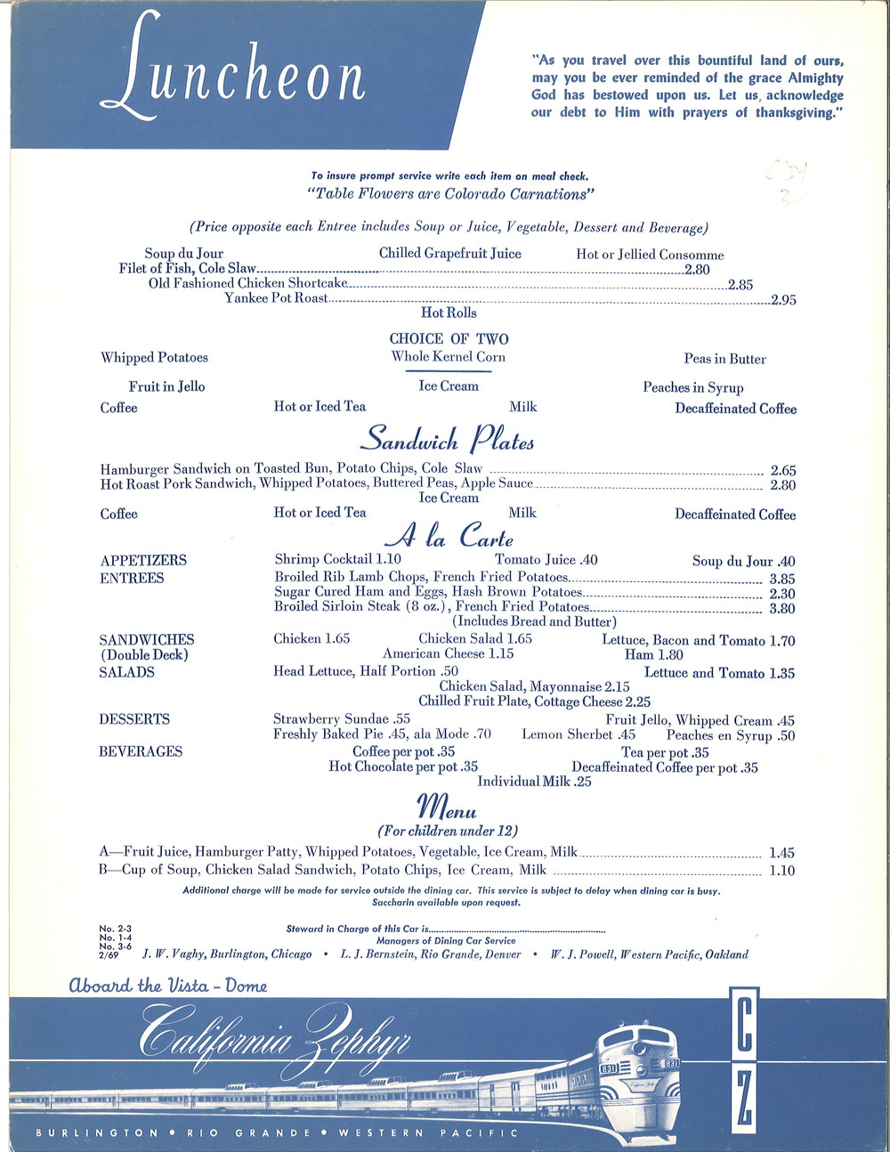 Burlington California Zephyr Lunch Menu 2-69 .jpg