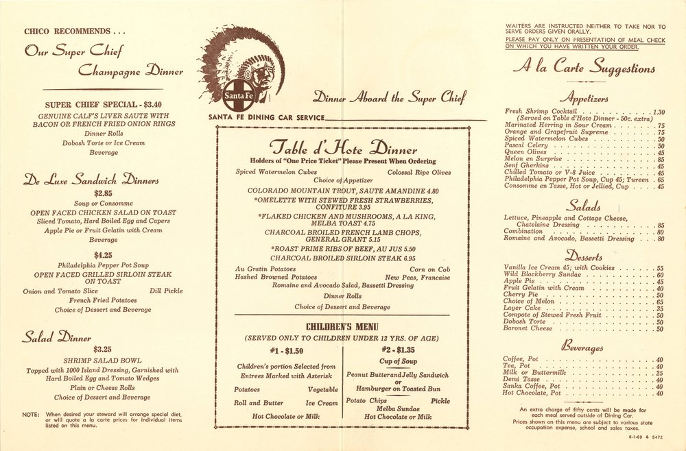 Santa Fe The Arrow Maker Dinner Menu 2.jpg