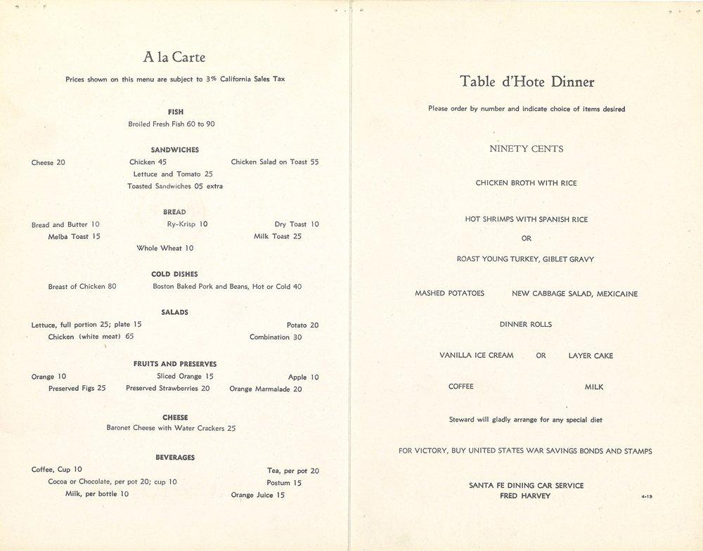 Santa Fe Dinner Menu April 1943-2.jpg