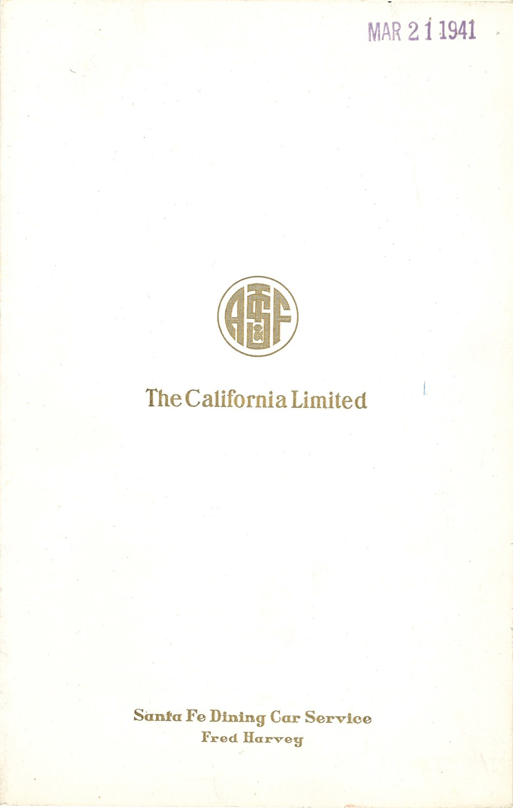 Santa Fe The California Limited Dinner Menu May 1941.jpg