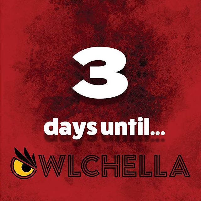 THREE days until #Owlchella2019 🔥Tickets are still on sale and can be bought at The Liacouras Center or on their online website 🤩 Come see for yourself the Spring concert that is going to have students talking for days!
