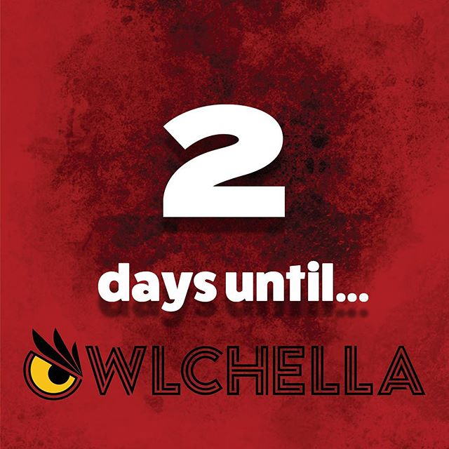 Almost there... TWO days until #Owlchella2019 🔥🤩🍒 FYI, Tickets are still being sold up until the day of the concert 🙌🏼 They can be purchased at The Liacouras Center or on their online website. Hurry now before it's too late!!!