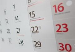 Calendario laboral - Es una herramienta muy visual que permite estructurar las jornadas laborales, festivas y de vacaciones, permitiendo particularizar pordepartamento y empleado.