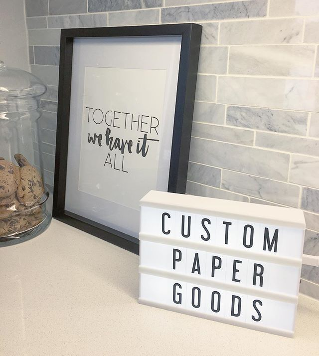 Custom Paper Goods - what we're best at!