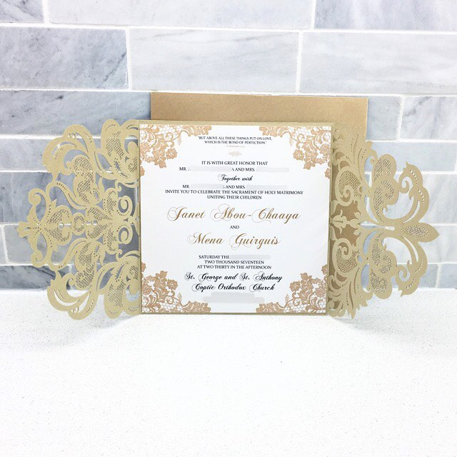 I'm a sucker for Gold...but Gold mixed with a lace design?! Be still my heart. 😍 Lots of invites out the door in the last few weeks!! We're catching up on social media with a few more coming your way this week! ➡️Fall brides; BOOK NOW! ⬅️ 💍